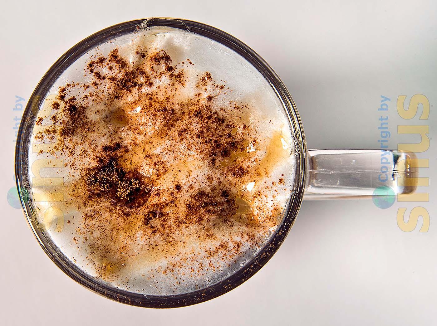 Cappuccino von oben gesehen